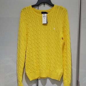 POLO RALPH LAUREN Cable knit Sweater XL NWT